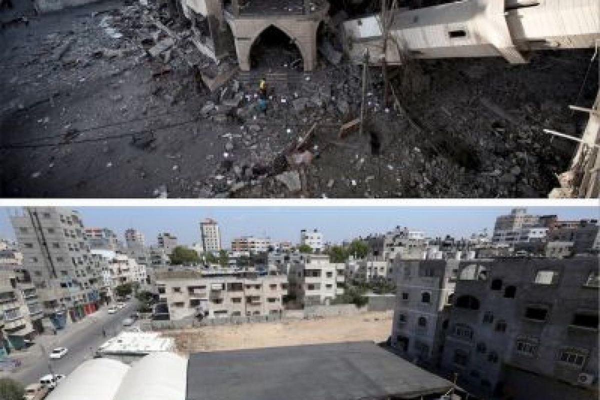 Una mezquita colapsada en la ciudad de Gaza Foto:AFP. Imagen Por:
