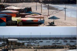 Así lucen las playas palestinas Foto:AFP. Imagen Por: