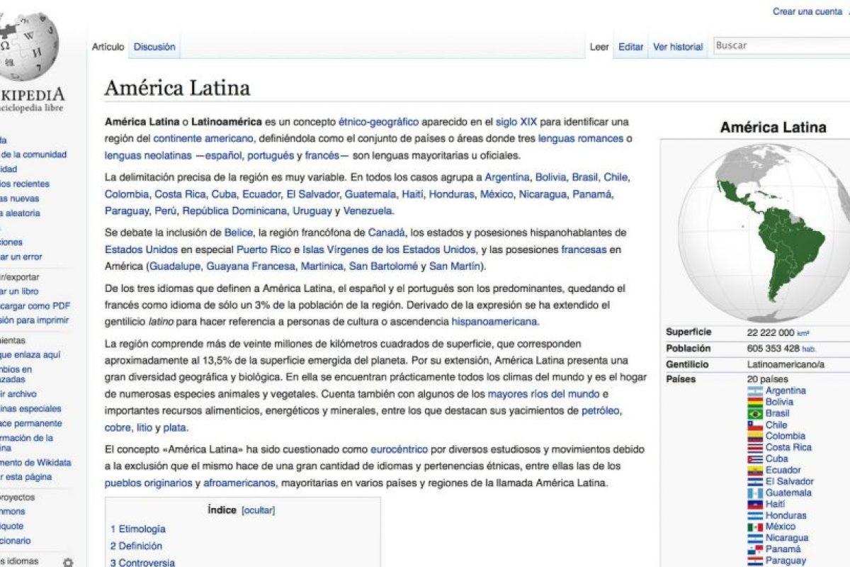 Así podría verse su artículo en Wikipedia. Foto:Wikipedia. Imagen Por: