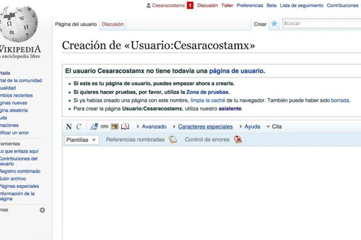 De esta forma comienzan todos los artículos de Wikipedia. Foto:Wikipedia. Imagen Por: