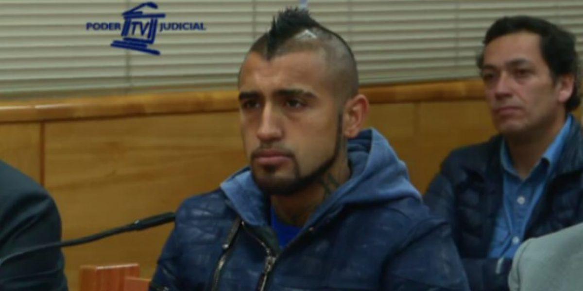 Las disculpas de Arturo Vidal a Carabineros por su choque