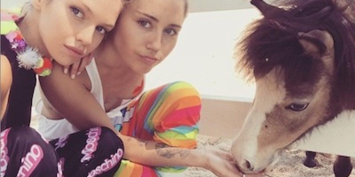 Miley Cyrus continúa derrochando amor junto a Stella Maxwell