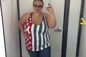 El gesto de Rachel es muy valiente. Y ella es una de las mujeres de talla grande que ha probado que se puede usar lo que sea. Incluidos los leggings. Foto:vía Rachel Taylor /Facebook. Imagen Por: