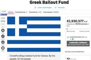 Un colecta online para pagar la deuda griega Foto:Indie Go Go. Imagen Por: