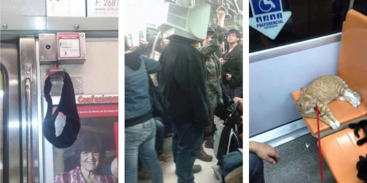 Las 40 cosas más freak que pasan en el Metro de Santiago