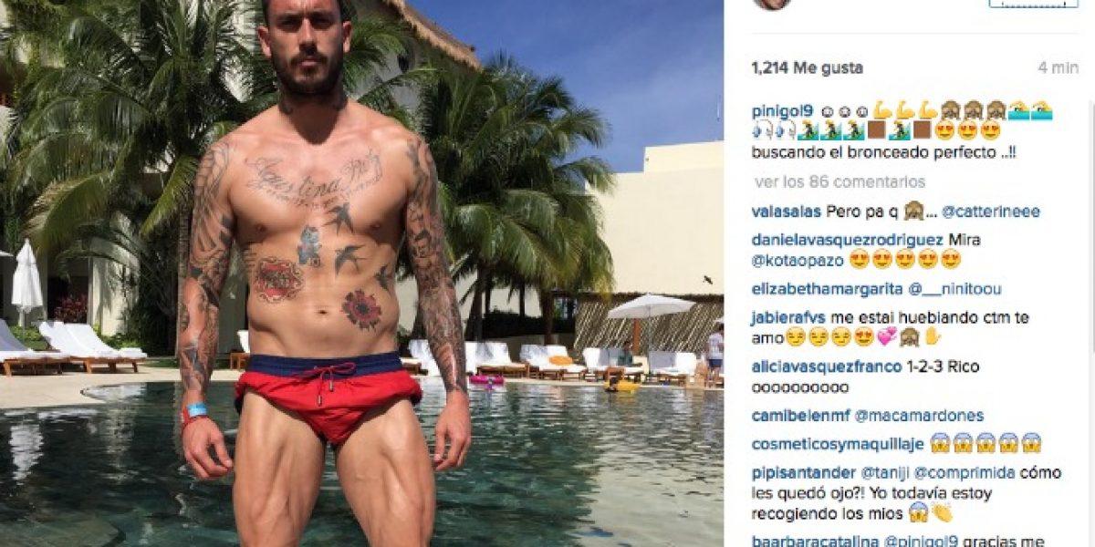 La sexy foto de Pinilla que tiene locas a sus seguidoras en Instagram