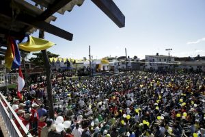 En el lugar hubo cerca de cuatro mil personas Foto:AP. Imagen Por: