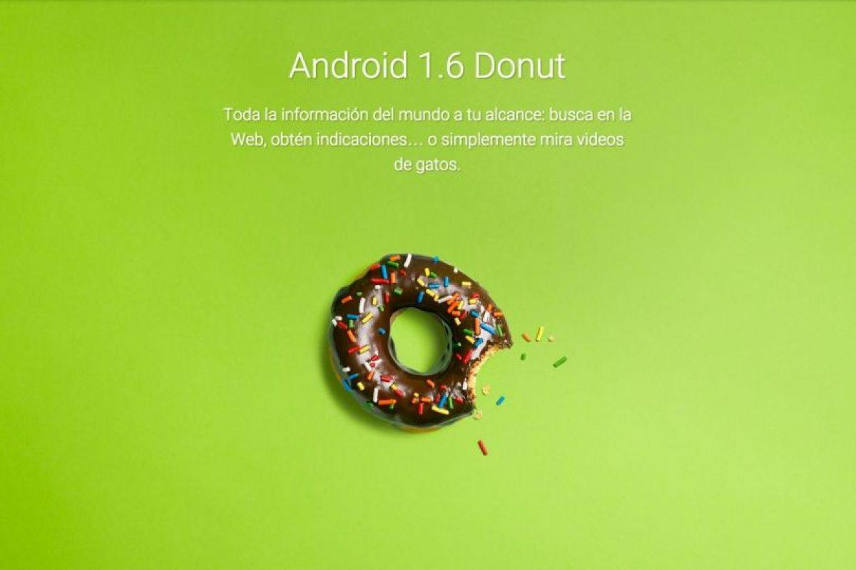 Android 1.6 Donut Foto:Google. Imagen Por: