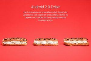 Android 2.0 Eclair Foto:Google. Imagen Por: