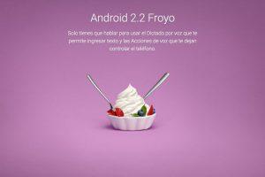 Android 2.2 Froyo Foto:Google. Imagen Por: