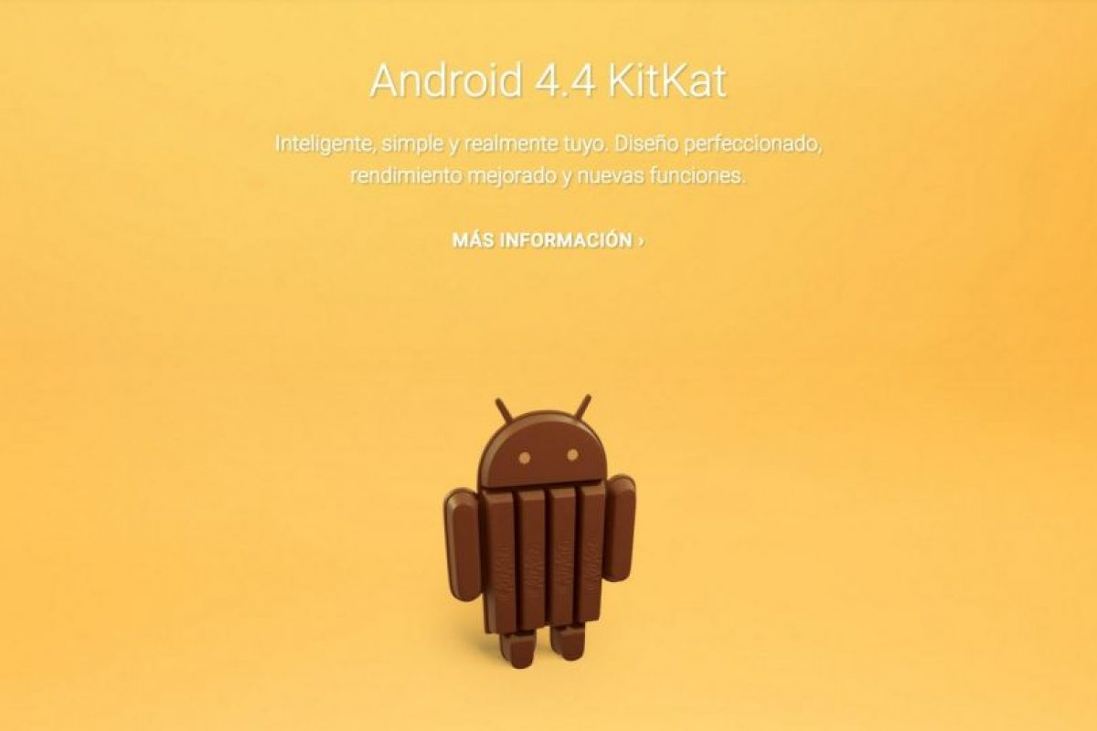 Android 4.4 KitKat Foto:Google. Imagen Por: