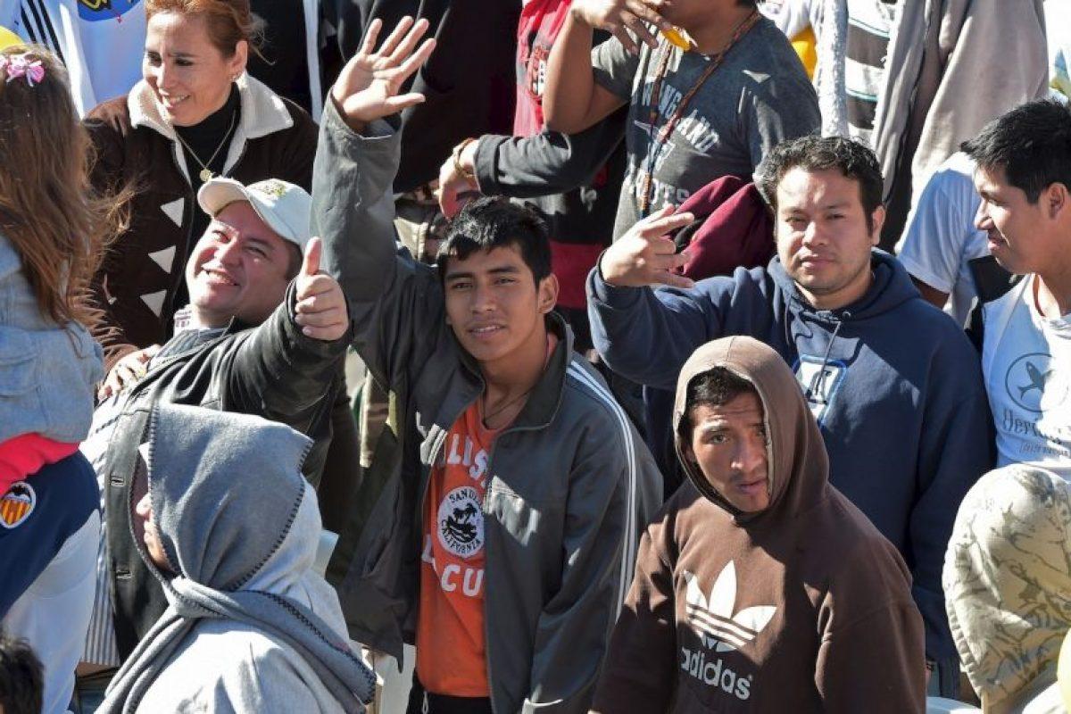 """""""Reclusión no es lo mismo que exclusión, porque la reclusión forma parte de un proceso de reinserción en la sociedad"""", les dijo Francisco. Foto:AFP. Imagen Por:"""