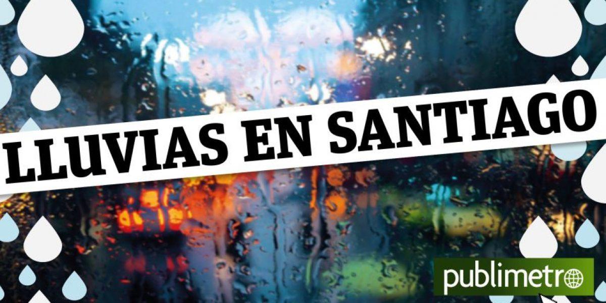 Infografía: lluvias en Santiago