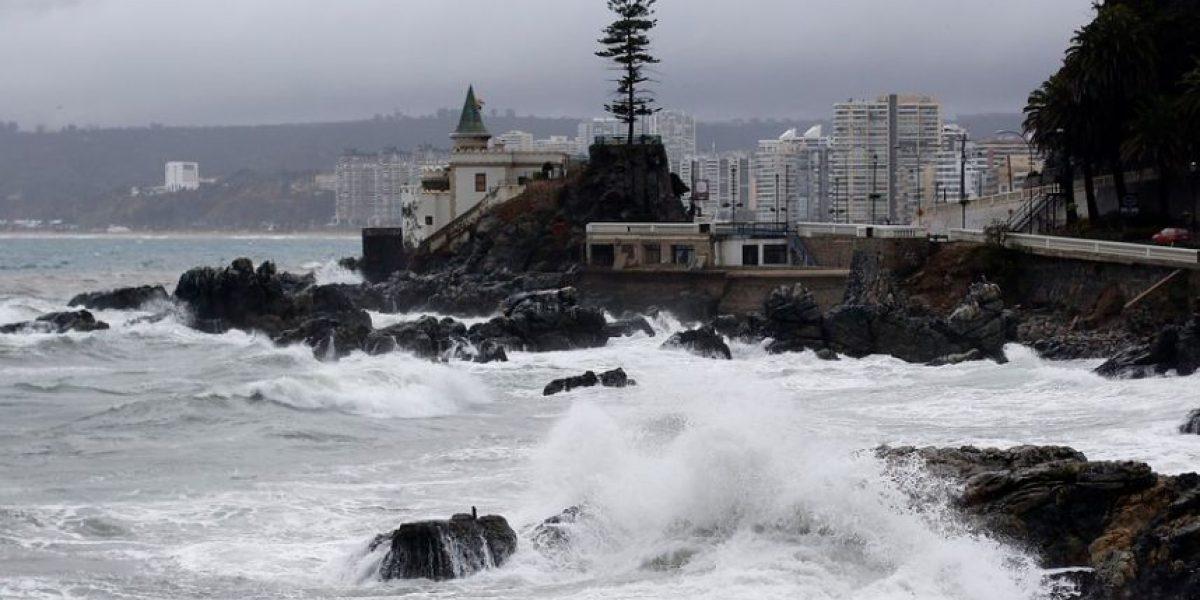 Sistema frontal inicia marejadas en Valparaíso