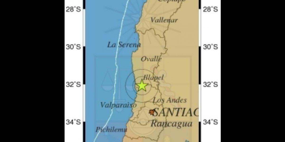 Sismo de mediana intensidad se registró en Valparaíso