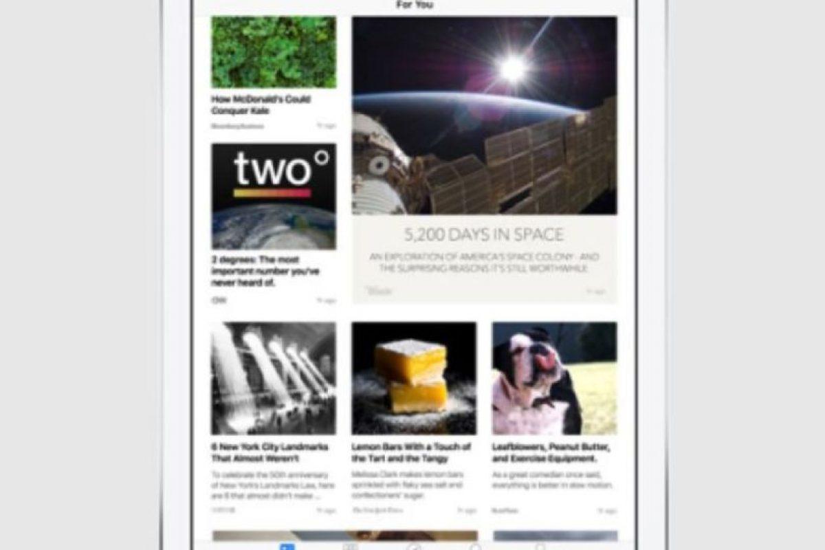 Con una interfaz exclusiva para el contenido escrito, fotos y video. Foto:Apple. Imagen Por: