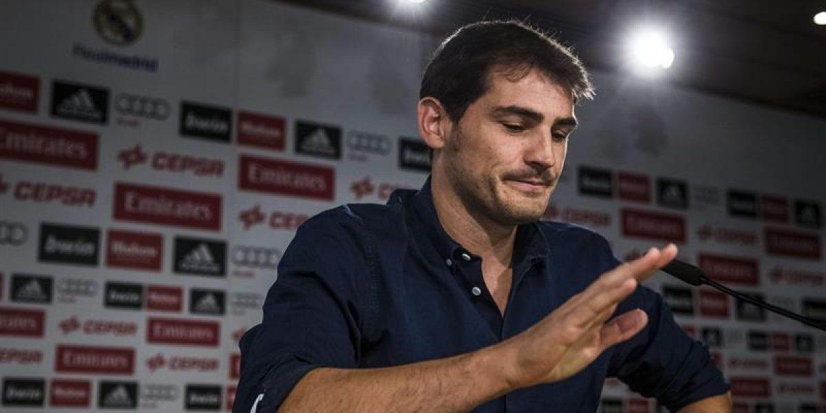 La emoción de Iker Casillas en su despedida del Real Madrid