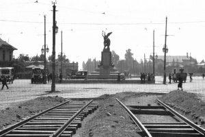 Vista de Plaza Italia de Santiago en 1926. Foto:Fotos Históricas de Chile. Imagen Por: