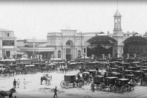 Estación Central de Santiago en 1885. Foto:Fotos Históricas de Chile. Imagen Por: