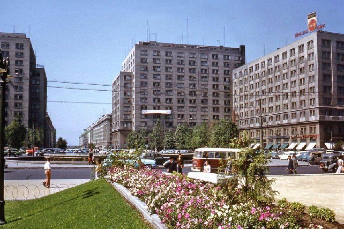 Avenida Alameda, Plaza Bulnes y Barrio Cívico de Santiago, 1960. Foto:Fotos Históricas de Chile. Imagen Por: