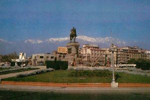 Plaza Baquedano de Santiago en 1981. Foto:Fotos Históricas de Chile. Imagen Por: