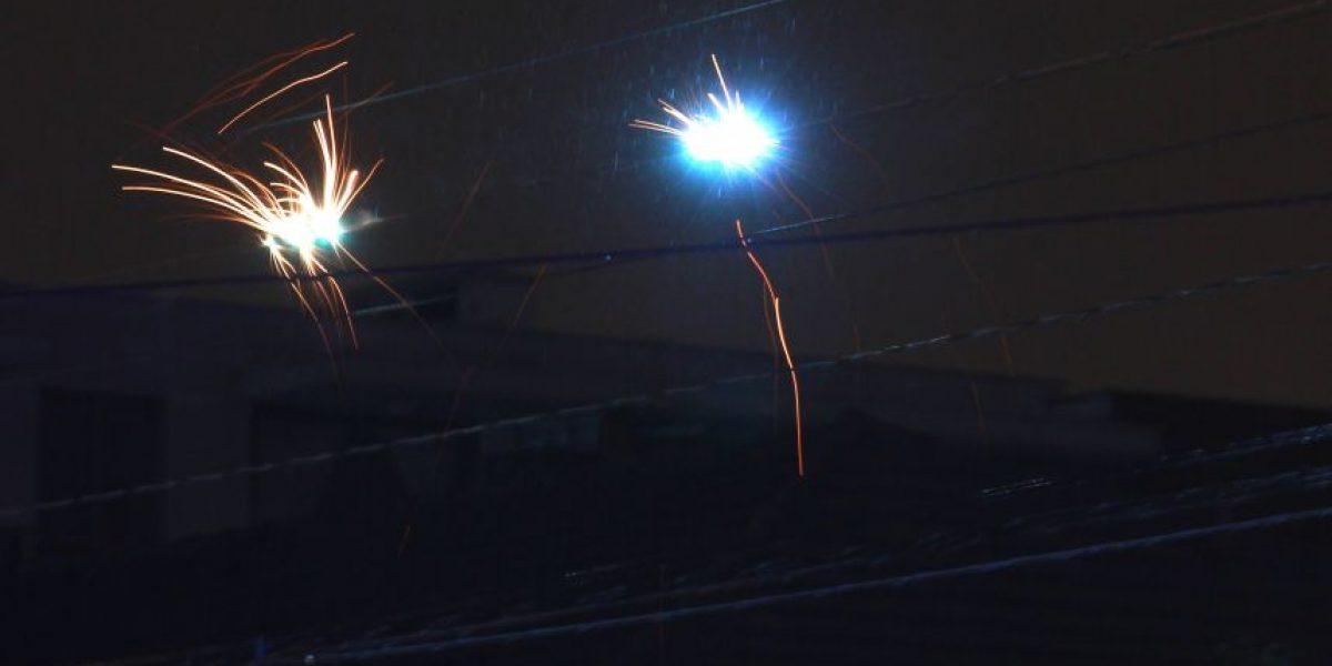 Emergencia eléctrica movilizó a Bomeros en Ñuñoa