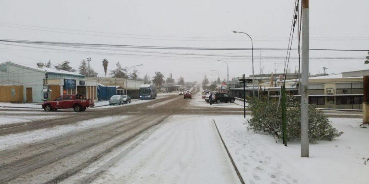 Así despertó localidad nortina de El Salvador tras intensa nevazón