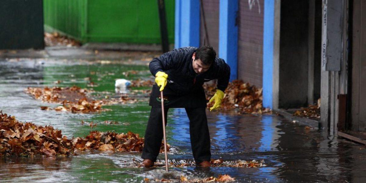 ¿Cuánto llovió en Santiago durante el fin de semana?