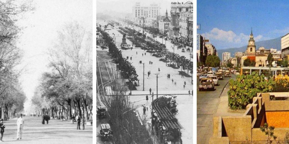 Los impresionantes cambios de la Alameda en más de 195 años