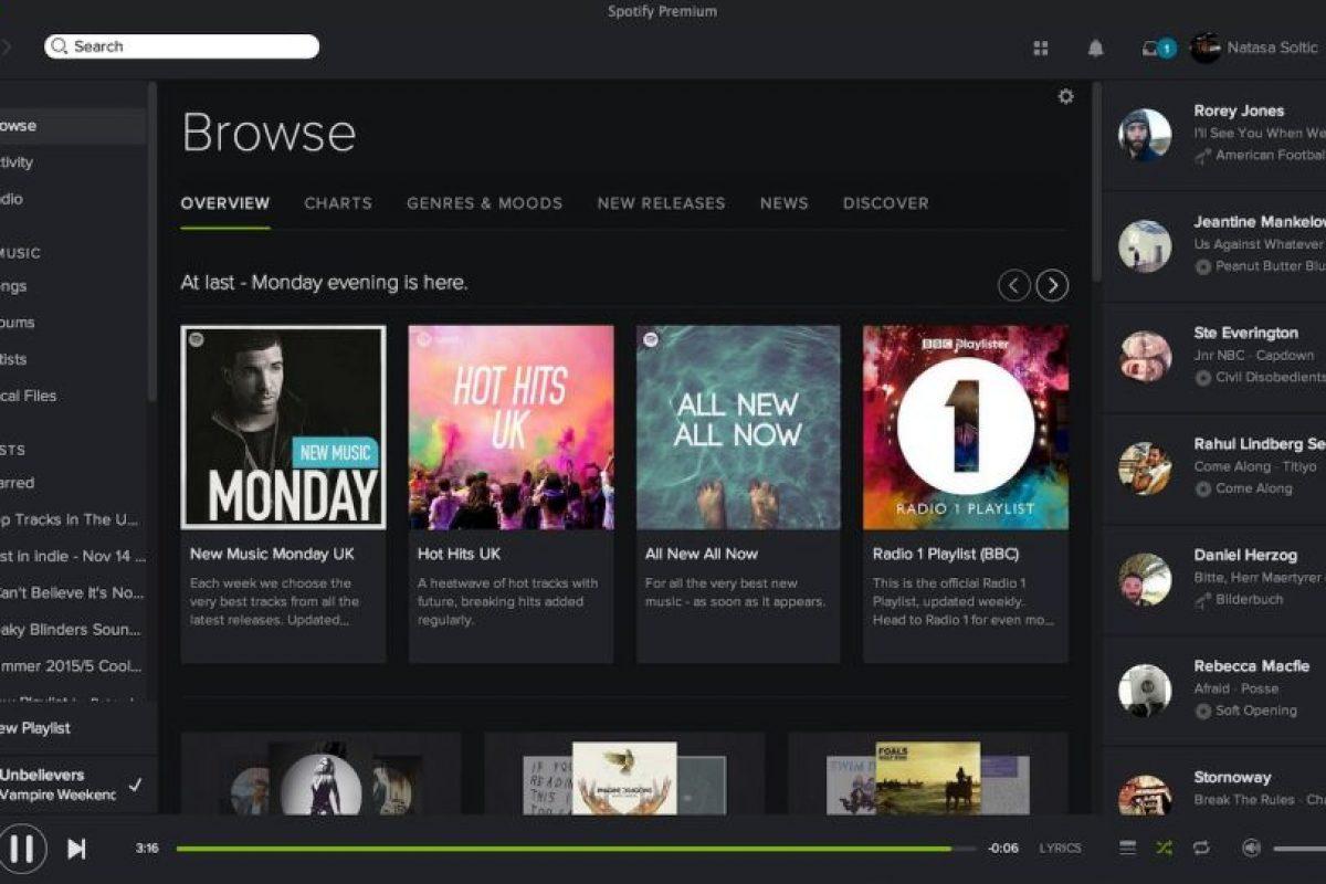 Tiene más de 30 millones de canciones. Foto:Spotify. Imagen Por: