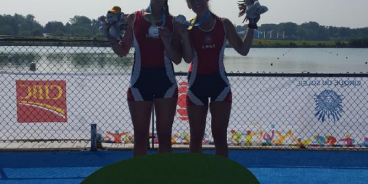 Plata para Chile: Hermanas Abraham lograron podio en el remo largo