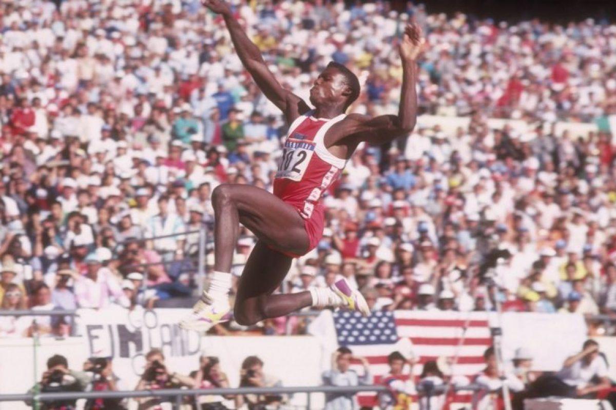 """Para Indianápolis 1987, el """"Hijo del Viento"""" impuso el récord del evento en triple salto con 8.75 metros Foto:Getty Images. Imagen Por:"""