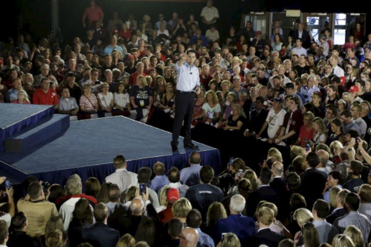 Sin embargo, hizo oficial su candidatura en Waukesha, una ciudad ubicada en Wisconsin. Foto:AP. Imagen Por: