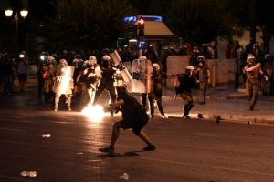 Esta noche, una serie de protestas terminaron en actos violentos Foto:AFP. Imagen Por: