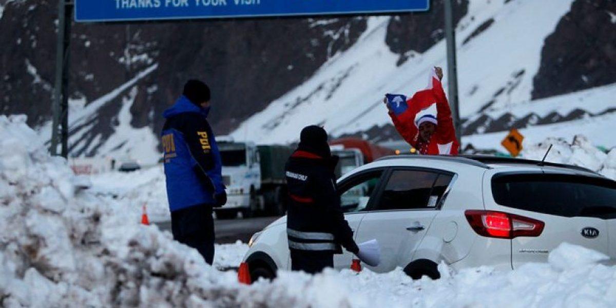 Reabren paso fronterizo Los Libertadores tras sistema frontal