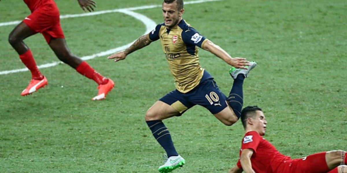 El Arsenal de Alexis comenzó goleando en su gira por Asia