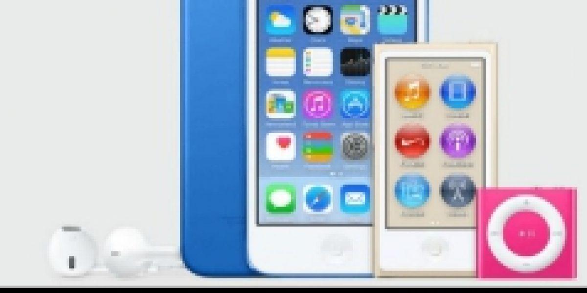 Apple estrenó nuevos modelos de iPods en su tienda oficial