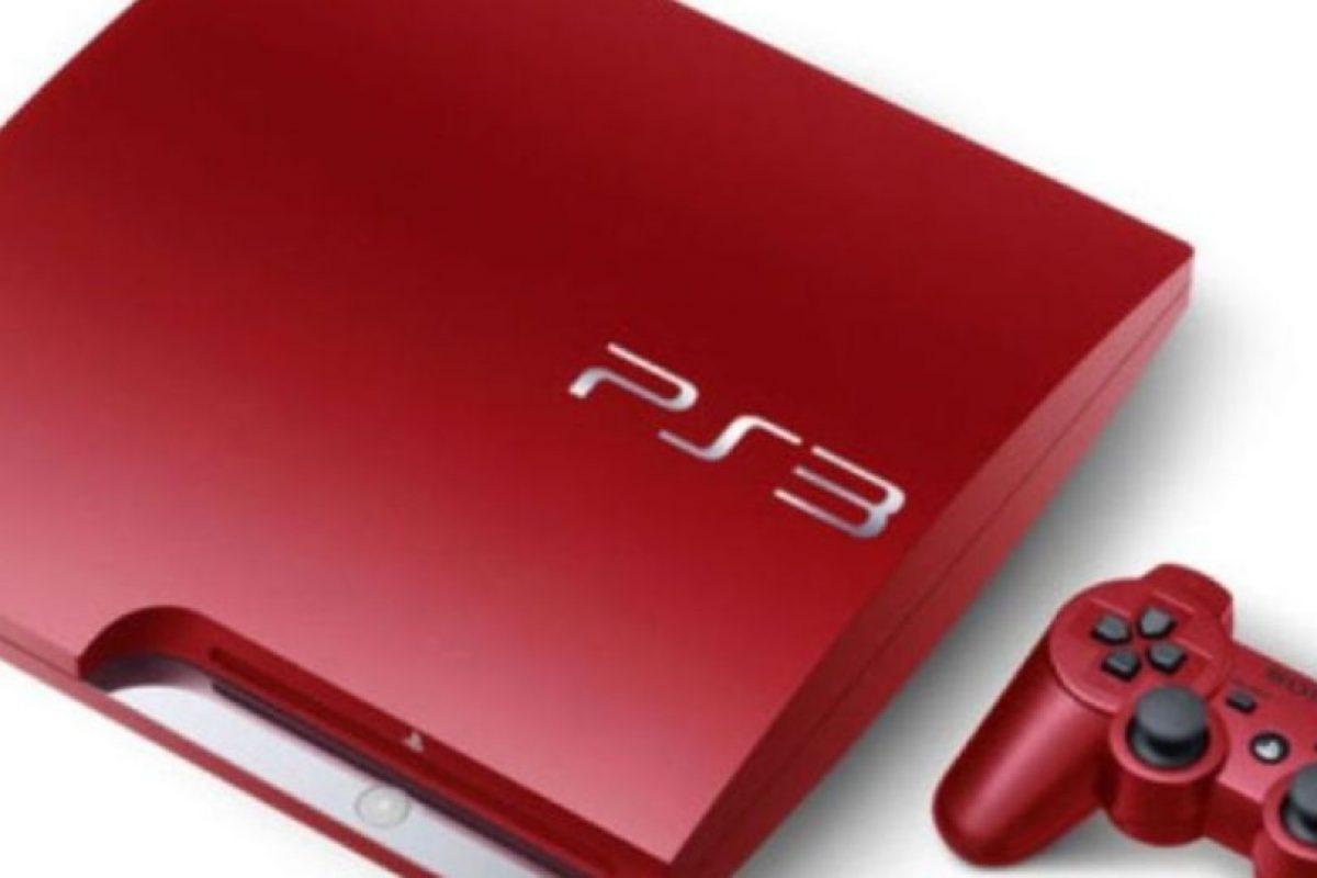 PlayStation 3 Slim color rojo metalizado. Foto:Sony. Imagen Por: