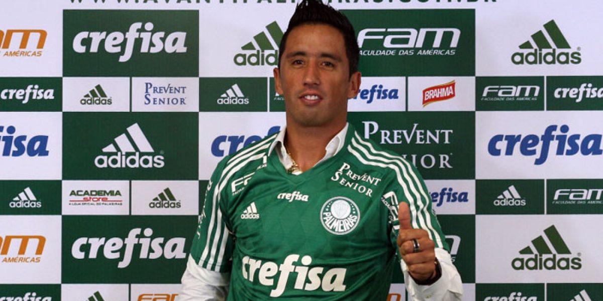 Lucas Barrios heredó la 10 de Jorge Valdivia en Palmeiras