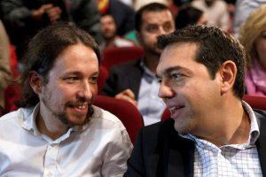 Pablo Iglesias, dirigente de Podemos y uno de los más allegados a Tsipras Foto:Getty Images. Imagen Por:
