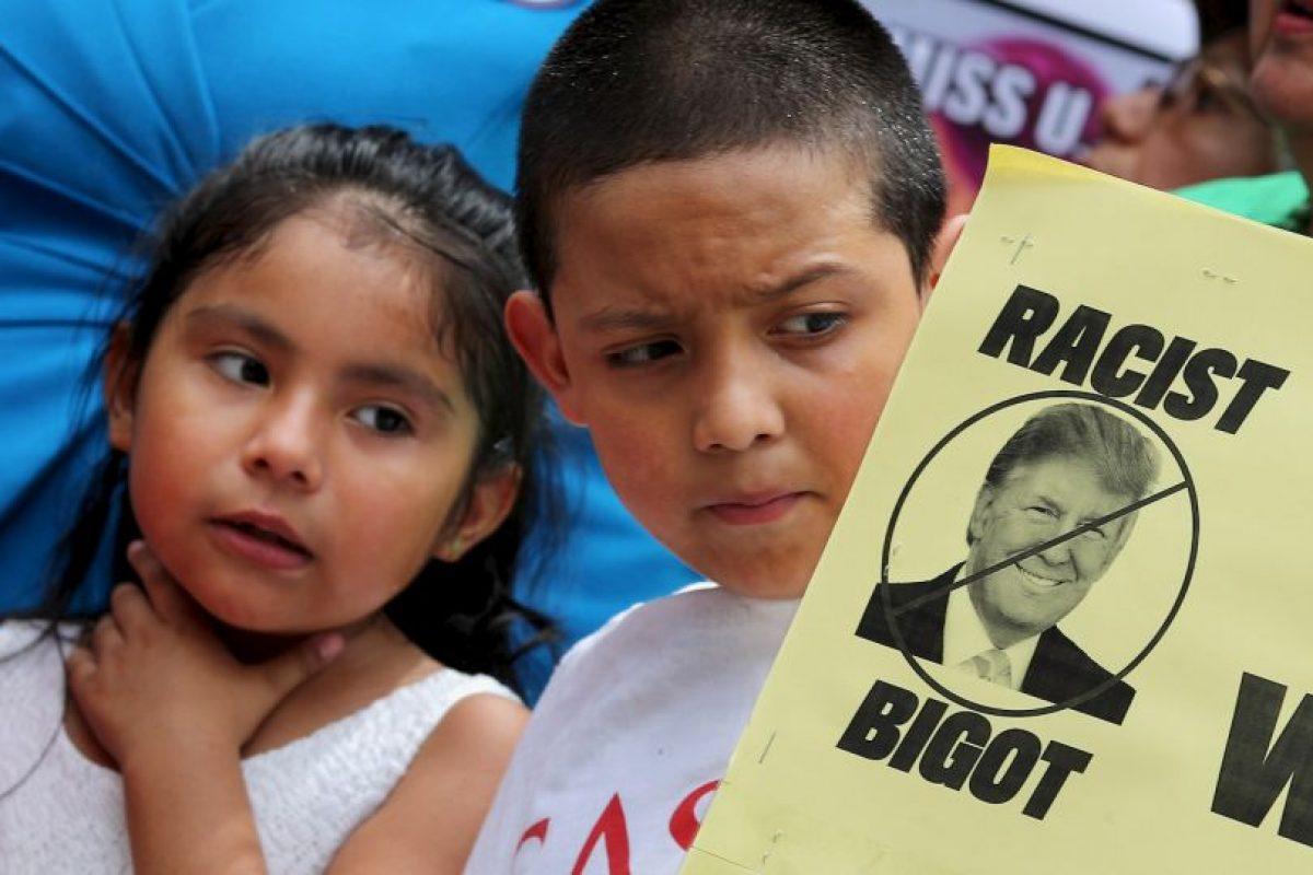 """El empresario fue acusado de racismo desde que lanzó su campaña presidencial por señalar que los mexicanos """"son violadores"""". Foto:Getty Images. Imagen Por:"""
