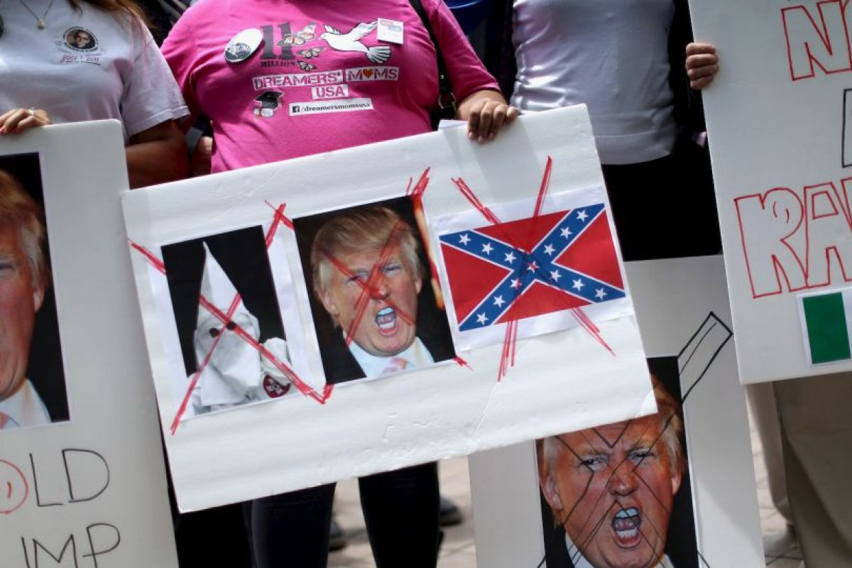 """3. """"Trump no es bienvenido hasta que se disculpe"""" Foto:Getty Images. Imagen Por:"""