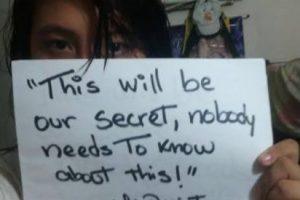 """""""Este será nuestro secreto, nadie necesita saberlo"""". Mi violador. Edad, 13. Foto:vía Project Unbreakable.org. Imagen Por:"""