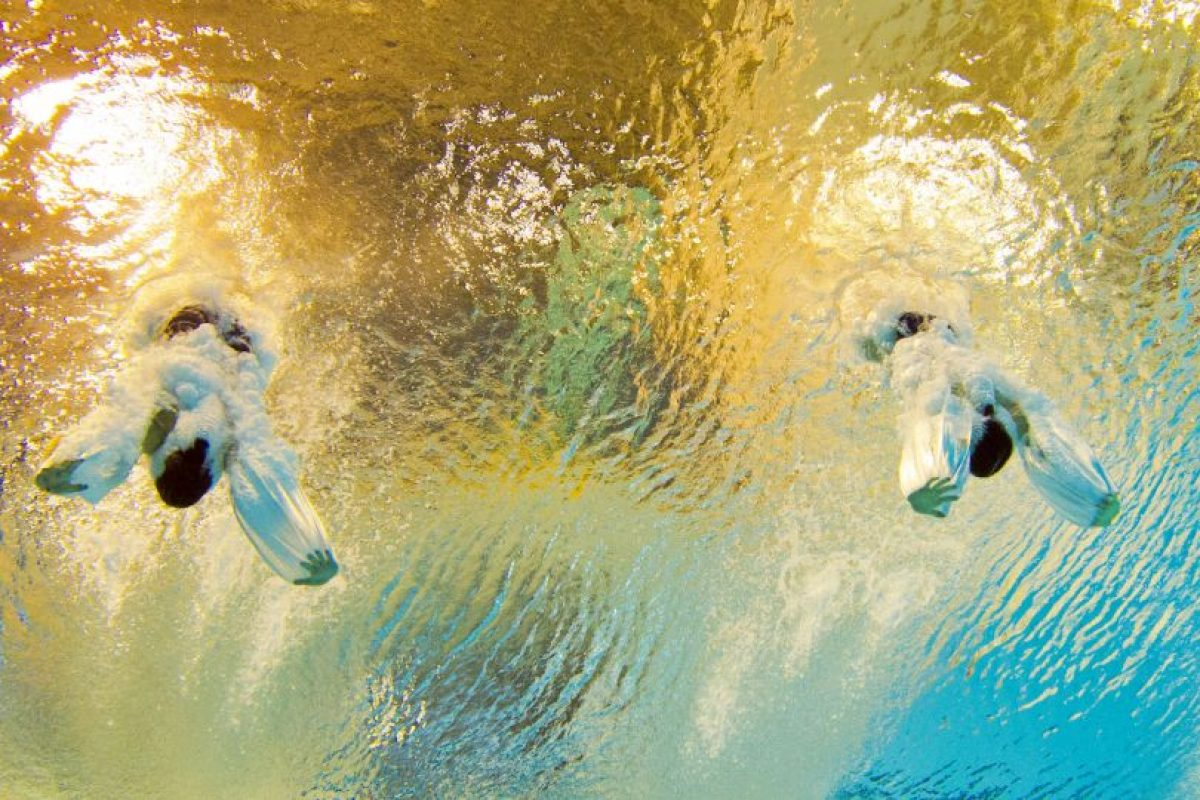 Las medallistas de plata Jennifer Abel y Pamela durante su participación de nado sincronizado en los Juegos Panamericanos 2015. Foto:AFP. Imagen Por: