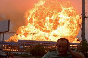 Explosión en la provincia oriental china de Shandong, China. Foto:AFP. Imagen Por: