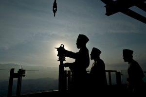 Malasia durante sus actividades conmemorativas al Ramadán. Foto:AFP. Imagen Por: