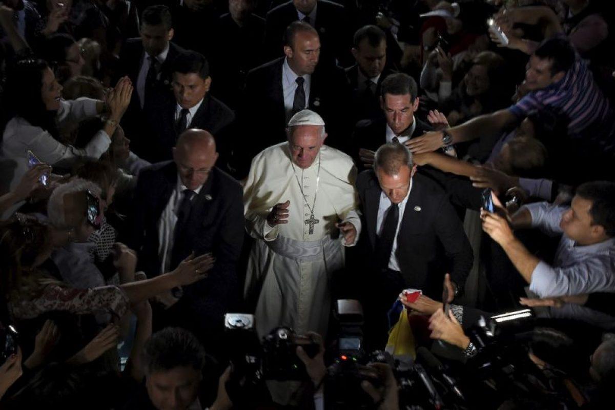 El Papa Francisco durante su gira por Paraguay. Foto:AFP. Imagen Por: