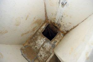 Sus cómplices debilitaron el cemento de la regadera con ácido y calor. Foto:AFP. Imagen Por:
