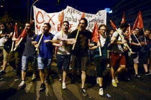 Manifestaciones en Grecia contra el plan de austeridad. Foto:AFP. Imagen Por: