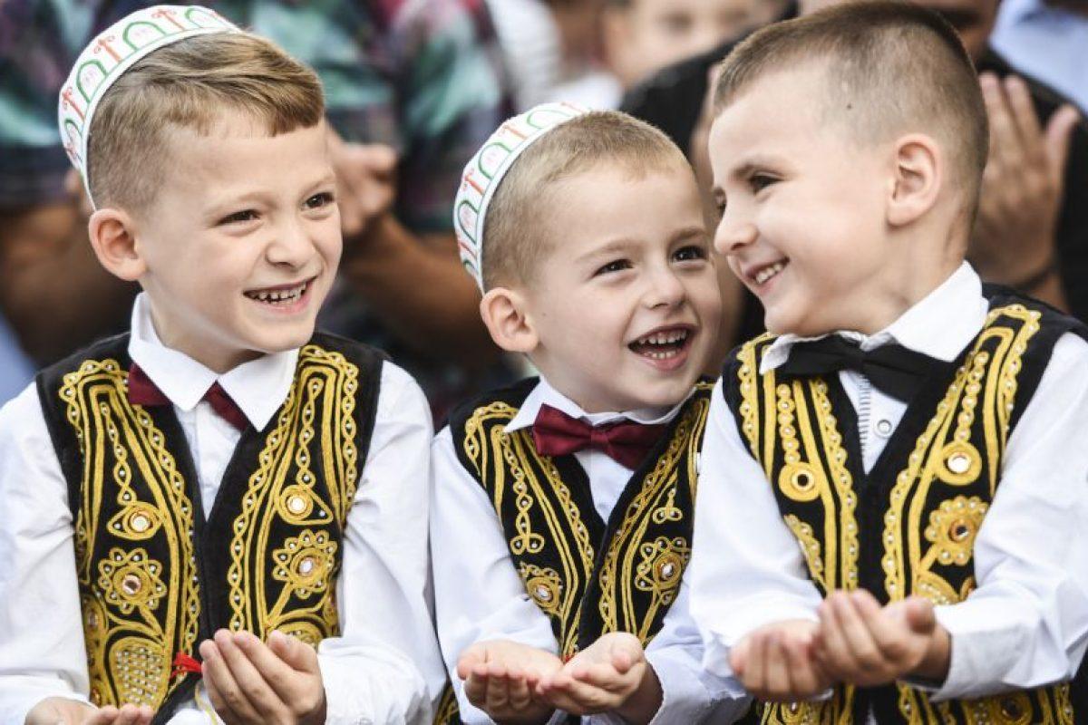 Niños musulmanes participan de actividad con motivo al fin del Ramadán. Foto:AFP. Imagen Por: